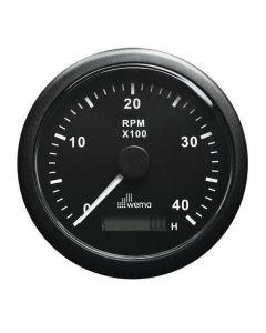 Compte-tours avec horamètre numérique