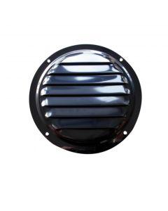 Grille d'aération ronde inox - ø122mm