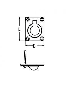 Lève panneau A4 - 75x56 mm