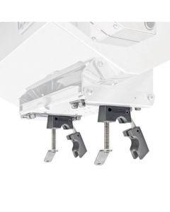 Double fixation balcon ø22/25mm pour barbecue rectangulaire