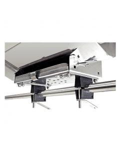 Double fixation balcon ø38mm pour barbecue rectangulaire