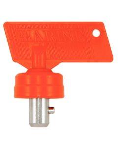 Clé pour coupe batterie avec cabochon et ergot métallique