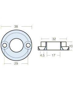 Anode zinc pour propulseur Vetus 25