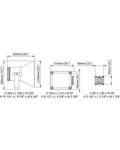 Haut parleur de pont EW2-MS avec sirène automatique - 24V avec micro