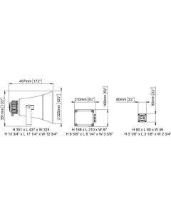 Haut parleur de pont EW3-M avec sirène automatique - 24V avec micro