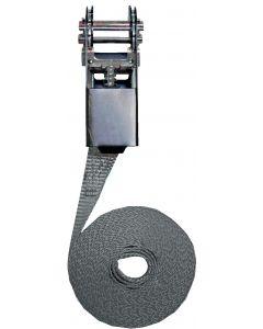 Sangle d'amarrage à cliquet modèle simple 25mm, L : 5m, R : 1000Kg