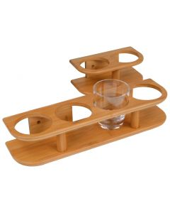 Accessoires d'intérieur en Bambou Support verres 4 verres