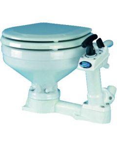 WC marin à cuvette porcelaine et abattant bois