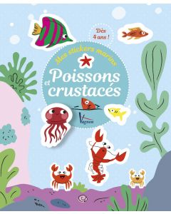 Mes stickers marins - Poissons et crustacés