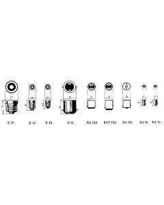 Ampoules de rechange pour feu clignotant 12 V, 10 W, par 2