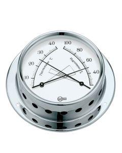 Thermomètre Hygromètre 83 Inox poli