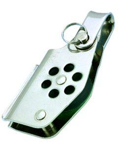 Poulies inox simple anneau à ringot et coinceur Ø 4 à 6 mm