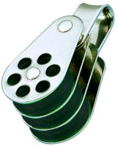 Poulies inox triple anneau Ø 4 à 6 mm
