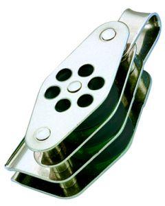 Poulies inox triple anneau ringot et coinceur Ø 4 à 6 mm