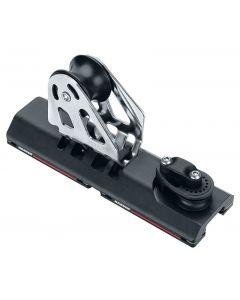 Chariot ESP d'écoute de génois à billes Modèle avec réa 57 mm et point fixe pour rail 27 mm