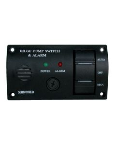 Interrupteur ON - OFF - AUTO + buzzer Dim. 115 x 65 mm